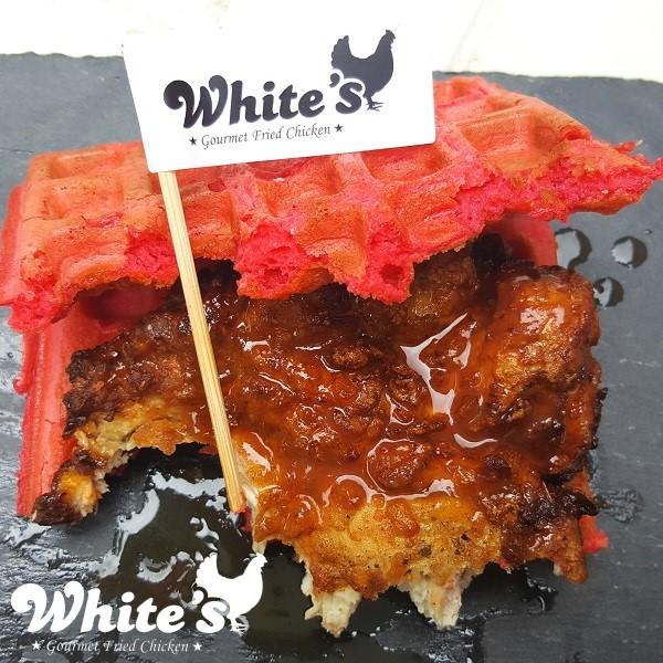 Breakfast Chicken & Red Velvet Waffle 'Wich